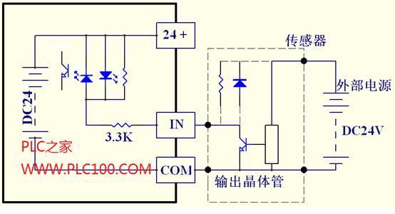 三菱PLC输入 输出回路的典型接线方式